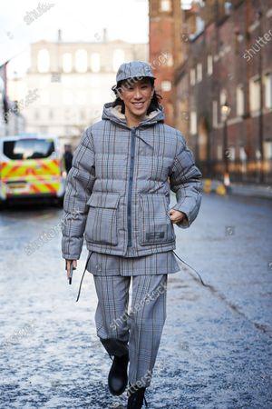 Editorial image of Street style, Fall Winter 2020, London Fashion Week, UK - 16 Feb 2020