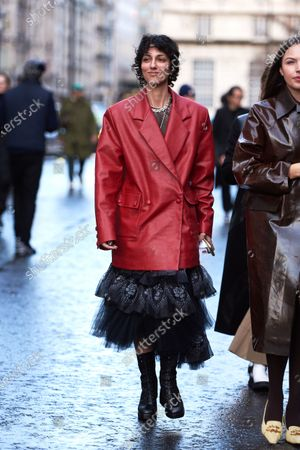 Editorial picture of Street style, Fall Winter 2020, London Fashion Week, UK - 16 Feb 2020