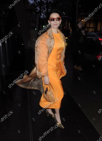 Editorial picture of David Koma show, Arrivals, Fall Winter 2020, London Fashion Week, UK - 15 Feb 2020