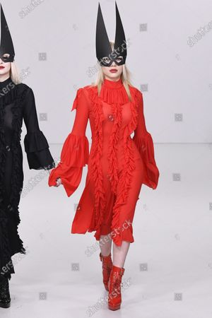Editorial picture of Pam Hogg, Runway, Fall Winter 2020, London Fashion Week, UK - 16 Feb 2020