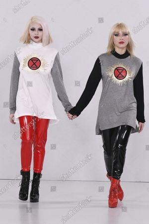 Model and Ellie Rae Winstone on the catwalk