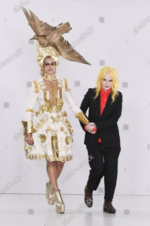 Alice Dellal and Pam Hogg on the catwalk