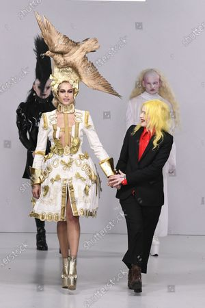 Stock Picture of Alice Dellal and Pam Hogg on the catwalk