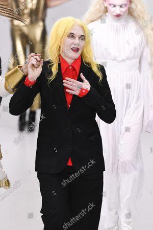 Pam Hogg on the catwalk