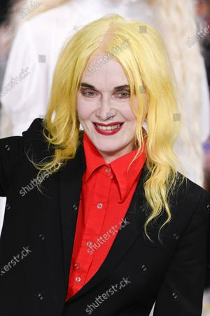 Stock Image of Pam Hogg on the catwalk