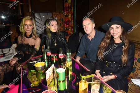 Christabel Milbanke, Lady Victoria Hervey, Angus Deayton and guest