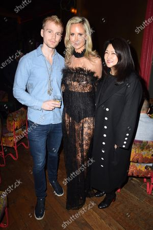 Scott Henshall, Lady Victoria Hervey and Susan Shen