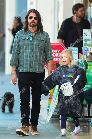 Dave Grohl and Ophelia Saint Grohl