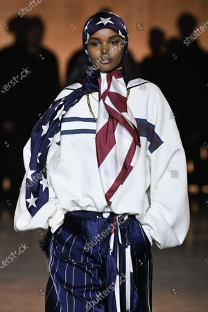 Halima Aden on the catwalk