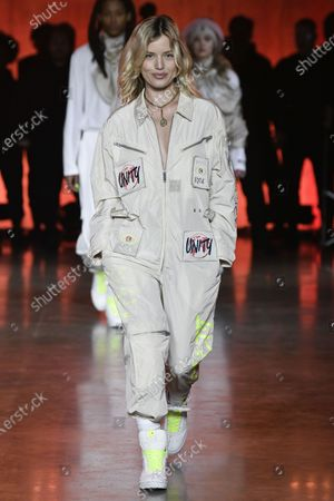 Stock Picture of Georgia May Jagger on the catwalk