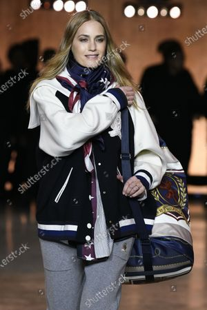 Stock Picture of Yasmin Le Bon on the catwalk