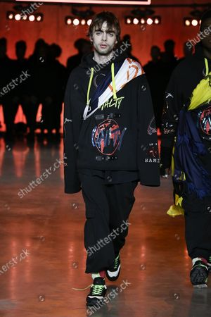 Editorial picture of Tommy Hilfiger show, Runway, Fall Winter 2020, London Fashion Week, UK - 16 Feb 2020