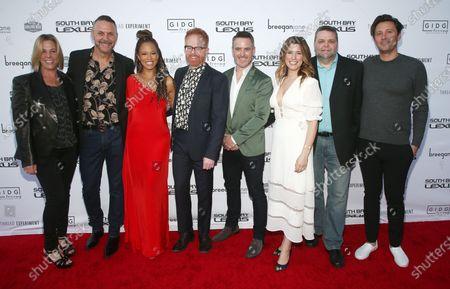 Stock Image of Sharon Levy, Loren Ruch, Breegan Jane, Jesse Tyler Fergusonm Darren Keefe, Carrie Locklyn, Michael Heyerman