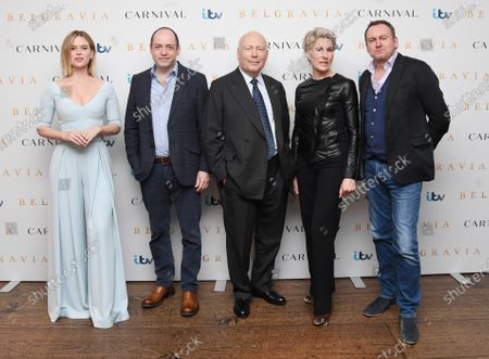 Stock Photo of Alice Eve, Gareth Neame, Julian Fellowes, Tamsin Greig and Philip Gleniste