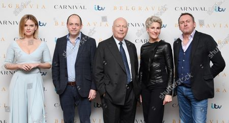 Stock Picture of Alice Eve, Gareth Neame, Julian Fellowes, Tamsin Greig and Philip Gleniste