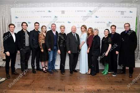 Stock Picture of Richard Goulding, Jack Bardoe, Jeremy Neumark Jones, Emily Reid, Philip Glenister, Tamsin Greig, Julian Fellowes, Alice Eve, Ella Purnell, Diana Hardcastle, Bronagh Gallagher, Adam James and Tom Wilkinson