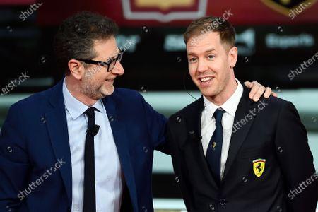 Stock Photo of Fabio Fazio, Sebastian Vettel