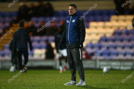 Macclesfield's manager, Mark Kennedy