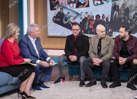 Stock Photo of Eamonn Holmes and Ruth Langsford with 5IVE - Sean Conlon, Ritchie Neville, and Scott Robinson