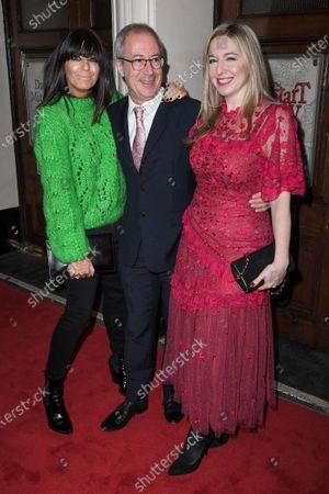 Stock Image of Claudia Winkleman, Ben Elton and Victoria Coren Mitchell