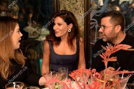 Mary Katrantzou, Banu Akan and Mariano Vivanco