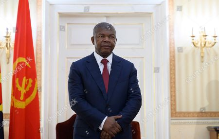 Angola President, Joao Lourenco waits to welcome US Secretary of State, Mike Pompeo at the Presidential Palace in Luanda, Angola, . Pompeo started his tour of Africa in Senegal, the first U.S. Cabinet official to visit in more than 18 months. He left Senegal Sunday to arrive in Angola and will then travel on to Ethiopia as the Trump administration tries to counter the growing interest of China, Russia and other global powers in Africa and its booming young population of more than 1.2 billion