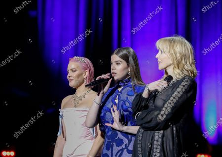 Stock Picture of Anne-Marie Rose Nicholson, Hailee Steinfeld and Courtney Love