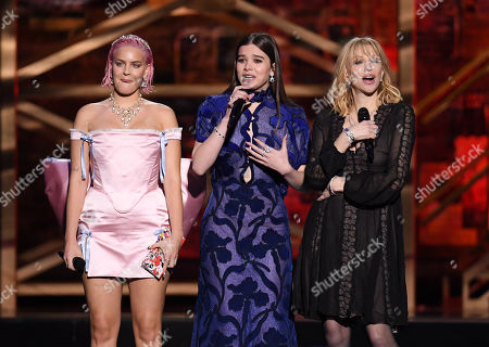 Stock Image of Anne-Marie Rose Nicholson, Hailee Steinfeld and Courtney Love