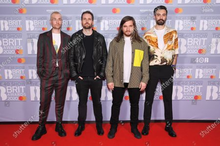 Bastille - Dan Smith, Kyle Simmons, Will Farquarson and drummer Chris Wood