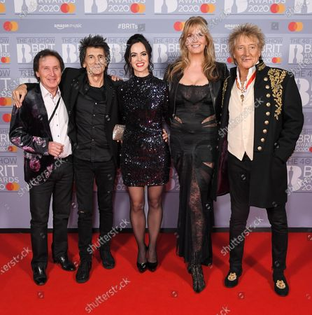 Kenney Jones, Ronnie Wood, Sally Wood, Penny Lancaster and Sir Rod Stewart