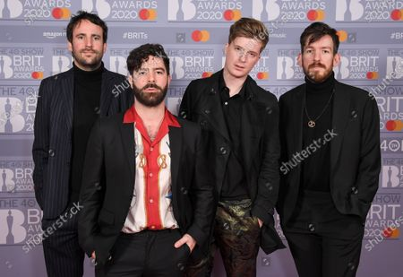 Stock Photo of Foals - Jimmy Smith, Yannis Philippakis, Jack Bevan and Edwin Congreave
