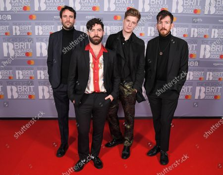 Stock Picture of Foals - Jimmy Smith, Yannis Philippakis, Jack Bevan and Edwin Congreave