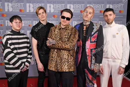 Stock Photo of Bring Me The Horizon - Oliver Sykes, Lee Malia, Matt Kean, Matt Nicholls and Jordan Fish