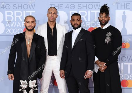 JLS - Aston Merrygold, Marvin Humes, Jonathan Gill and Oritse Williams
