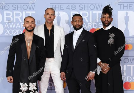 Stock Image of JLS - Aston Merrygold, Marvin Humes, Jonathan Gill and Oritse Williams