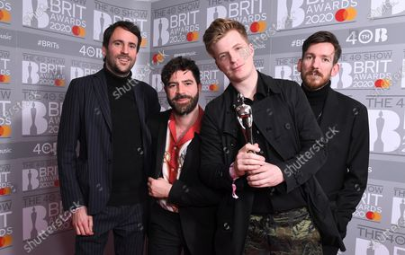 Stock Image of Foals - Yannis Philippakis, Jack Bevan, Jimmy Smith and Edwin Congreave - Best British Group