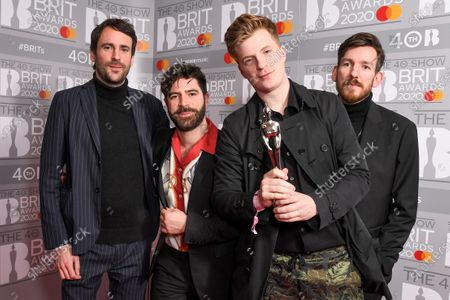 Foals - Yannis Philippakis, Jack Bevan, Jimmy Smith and Edwin Congreave - Best British Group