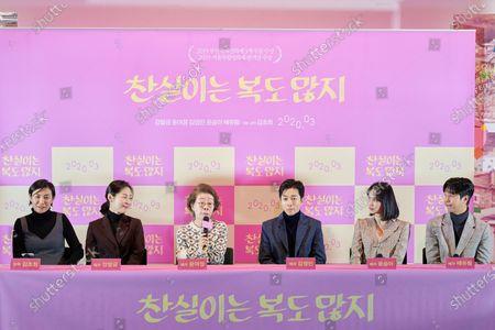 Kim Cho-hee, Kang Mal-geum, Youn Yuh-jung, Kim Young-min, Yoon Seung-ah, Bae Yoo-ram