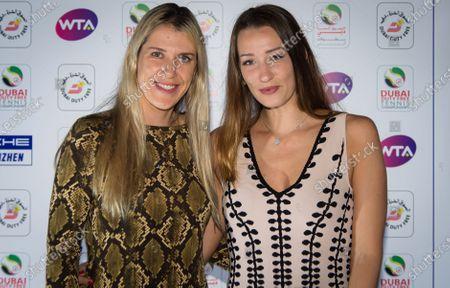 Olga Savchuk at the players party of the 2020 Dubai Duty Free Tennis Championships WTA Premier tennis tournament.