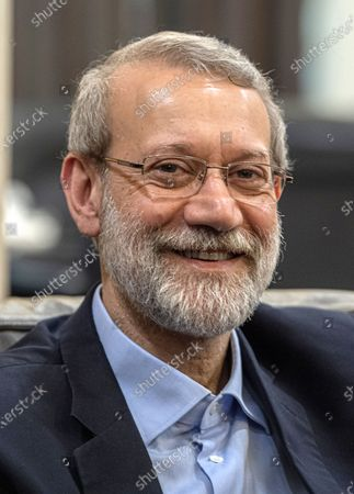 Iranian Parliament Speaker Ali Larijani looks on during a meeting at the government palace in Beirut, Lebanon, 17 February 2020. Larijani arrived in Lebanon after a visit in Syria.