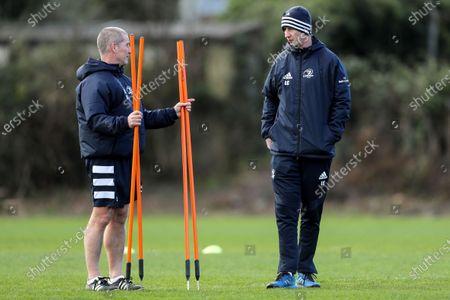 Senior coach Stuart Lancaster and head coach Leo Cullen