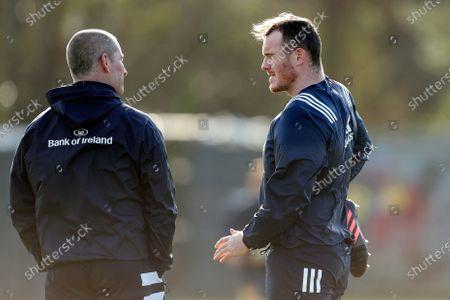 Senior coach Stuart Lancaster and Peter Dooley