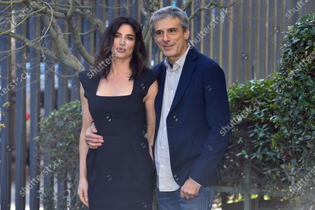 Stock Picture of Luisa Ranieri and Stefano Dionisi