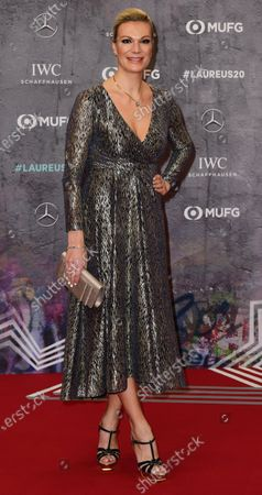 Retired German alpine skiier Maria Hoefl-Riesch arrives for the Laureus World Sports Awards ceremony at the Verti Music Hall in Berlin, Germany, 17 February 2020.