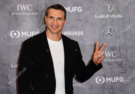 Retired heavyweight boxer Wladimir Klitschko of Ukraine arrives for the Laureus World Sports Awards ceremony at the Verti Music Hall in Berlin, Germany, 17 February 2020.