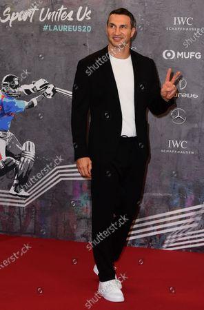 Stock Image of Retired heavyweight boxer Wladimir Klitschko of Ukraine arrives for the Laureus World Sports Awards ceremony at the Verti Music Hall in Berlin, Germany, 17 February 2020.