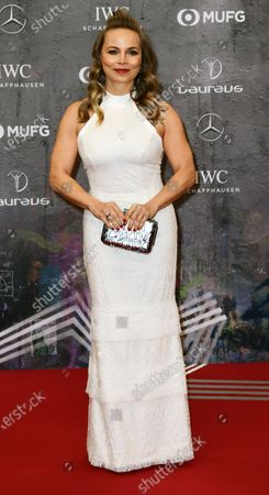 Stock Image of Former German boxer Regina Halmich arrives for the Laureus World Sports Awards ceremony at the Verti Music Hall in Berlin, Germany, 17 February 2020.