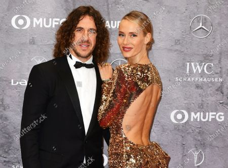 Former Spanish international and Barcelona defender Carles Puyol and his wife Vanessa Lorenzo arrive for the Laureus World Sports Awards ceremony at the Verti Music Hall in Berlin, Germany, 17 February 2020.