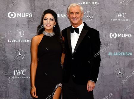 Former Welsh international and Liverpool legend Ian Rush and wife Tracey Rush arrive for the Laureus World Sports Awards ceremony at the Verti Music Hall in Berlin, Germany, 17 February 2020.