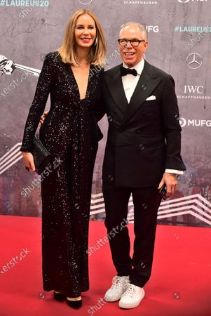 US designer Tommy Hilfiger and wife Dee Ocleppo arrive for the Laureus World Sports Awards ceremony at the Verti Music Hall in Berlin, Germany, 17 February 2020.